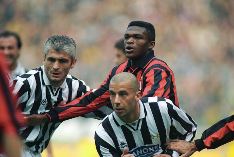 Juventus Milan    ottobre    Ravanelli Desailly Vialli