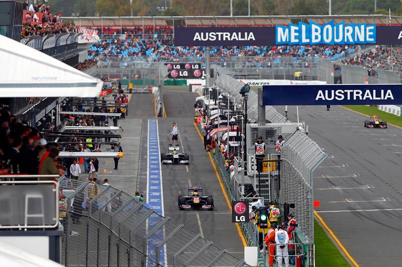 Australian GP pit lane